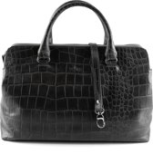 by LouLou - 12BAG Vintage Croco - Shopper - Zwart