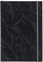 Paseo black embossed notebook a6