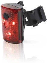 XLC Pan Fiets Aachterlicht - 3 Led - USB Oplaadbaar - Rood