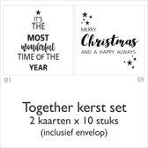 Kerstkaarten set Together - 20 kaarten met envelop