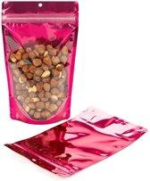 Stazakken Transparant/Fuchsia 13x7,9x20,6cm | 57 gram (100 stuks)