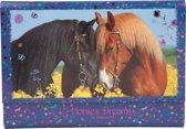 Horses Dreams briefpapier in opbergmap, blauw