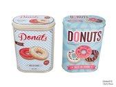 Blik donuts ovaal 13x7x19cm Bewaardozen