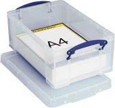 6x Really Useful Box 9 liter, transparant