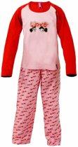 AnnaRebella Meisjes Pyjama Roze-Rood PYM24001B maten: 140