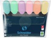 Tekstmarker Schneider Job pastel kleur ass. etui a 6st.