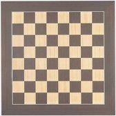 Luxe houten schaakbord wenge en esdoorn 55 cm - veldmaat 55 mm - maat 6