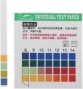 Universele PH-teststrips Volledig bereik 1-14 Indicatorpapiertester 100 Strips Boxed w / Colour Chart