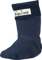 Playshoes Lange Fleecesokken voor regenlaarzen Kinderen - Donkerblauw - Maat 20-21