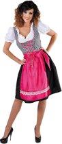 Luxe Oktoberfest Dirndl Anna met roze schort en bloesje | Oktoberfestkleding dames maat 50/52 (XXL)