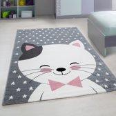 Vloerkleed Kinderkamer - Kat - Roze