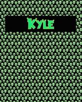 120 Page Handwriting Practice Book with Green Alien Cover Kyle