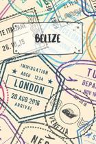 Belize: Liniertes Reisetagebuch Notizbuch oder Reise Notizheft liniert - Reisen Journal f�r M�nner und Frauen mit Linien