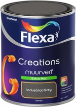 Flexa Creations Muurverf - Extra Mat - Industrial Grey - 1 liter