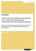 Analyse der wirtschaftlichen Entwicklung von veröffentlichungspflichtigen Unternehmen der Metropolregion Hamburg