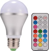 10W E27 Dimbare LED light bulb multi kleuren met afstansbediening