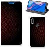 Huawei P Smart Z Hoesje met Magneet Geruit Rood