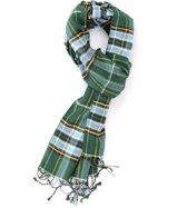 Groene viscose sjaal met Schotse ruit - Zachte stijlvolle shawl voor heren