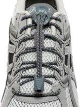 Lock Laces Reflective Grey - Sportveters - Elastische veters - Hardlopen - Running onze size dames heren en kinderen