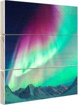 FotoCadeau.nl - Fraai noorderlicht Hout 120x80 cm - Foto print op Hout (Wanddecoratie)