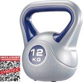Gymstick - Kettlebell - Met Trainingsvideo's - 12 kg - Blauw