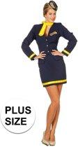 Grote maten stewardess kostuum 46 (3xl)