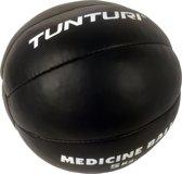 Tunturi Medicine Ball - Crossfit Ball - Medicijnbal - 5 kg - Zwart Leer