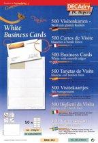 2x Decadry visitekaarten TopLine 500 kaartjes (10 kaartjes 85x54mm per A4), rechte hoeken