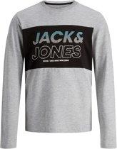Jack & Jones Shirt - Maat 128  - Jongens - grijs/zwart