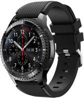 AA Commerce Siliconen bandje - Samsung Gear S3 - Zwart