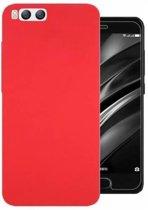 Teleplus Xiaomi Mi 6 Hard Cover Case Red + Glass Screen Protector hoesje