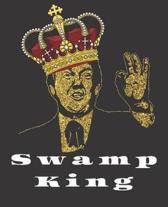 Swamp King Trump Blank Book Gag Gift