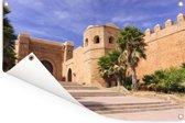 Poort en muren van de Kasbah in Rabat Tuinposter 90x60 cm - Tuindoek / Buitencanvas / Schilderijen voor buiten (tuin decoratie)