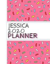 Jessica: : 2020 Personalized Planner: One page per week: Pink sprinkle design