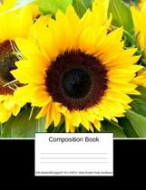Composition Book 200 Sheets/400 Pages/7.44 X 9.69 In. Wide Ruled/ Pretty Sunflower