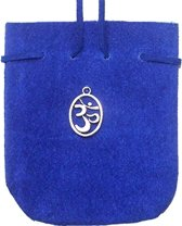 SUEDE POUCH COBALT- OVAL OM