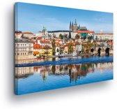 City Prague Bridge River Cathedral Canvas Print 100cm x 75cm