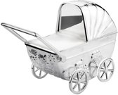 Zilverstad - Spaarpot - Kinderwagen met graveerplaatje