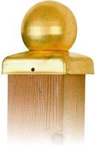 Intergard paalornamenten messing bol voor houten palen - 71x71mm
