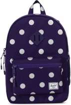 Herschel Supply Co. Heritage Youth Rugzak 16L - Parachute Purple Polka Dot / Parach Purple Rubber