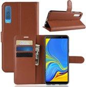 Book Case Samsung Galaxy A7 (2018) Hoesje - Bruin