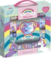 Unicorn stickerbox 12rolls + boekje