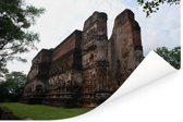 Torenhoog stenen tempel in Polonnaruwa Sri Lanka Poster 180x120 cm - Foto print op Poster (wanddecoratie woonkamer / slaapkamer) XXL / Groot formaat!