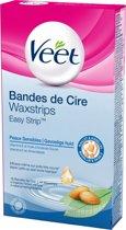 Veet Gebruiksklare Waxstrips Gevoelige Huid Bikinilijn & Oksels - 16 stuks - Wax Strips