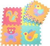 GadgetQounts Puzzelmat - speelmat baby - speelkleed - foam puzzel mat - kinderen - dieren design - 29,5cm x 29,5cm - DisQounts