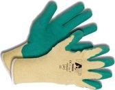 Hands-on Handschoen - maat 8 - Wit-groen