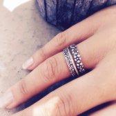 Setje Bali ringen - 925 zilver - maat 20.00 mm - maat 20.00 mm