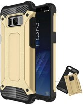 Teleplus Samsung Galaxy S8 Plus Dual Layer Tank Cover Case Gold hoesje