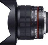 Samyang 8mm T3.8 Umc Vdslr Fisheye Cs II - Prime lens - geschikt voor Nikon Spiegelreflex