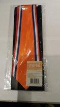 stropdas - oranje rood / wit / blauw -